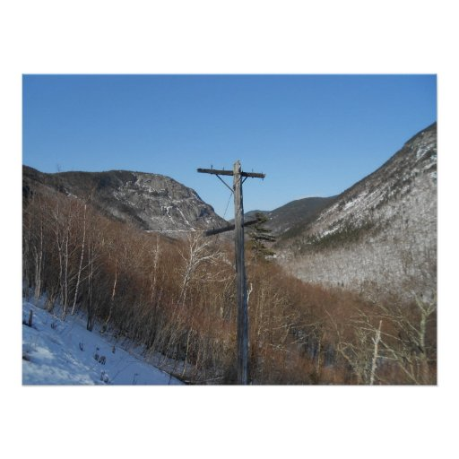 Telegraph Pole in the White Mountains Posters