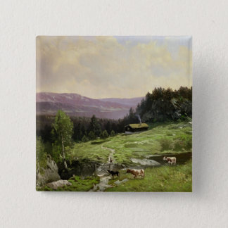Telemark, South Norway 15 Cm Square Badge