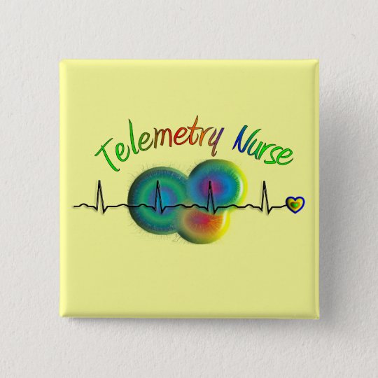 Telemetry Nurse Gifts 15 Cm Square Badge