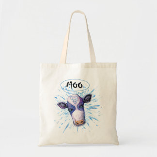 Telepathic Cow Budget Tote Bag