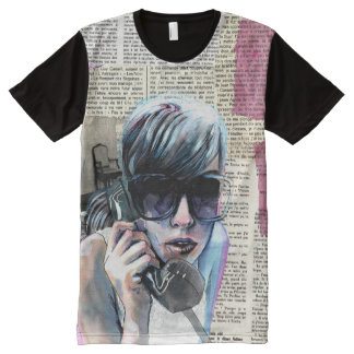 Telephone All-Over Print T-Shirt
