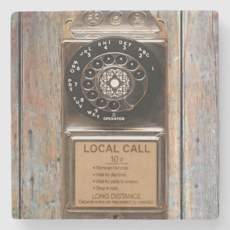 Telephone antique rotary pay phone steampunk booth stone beverage coaster