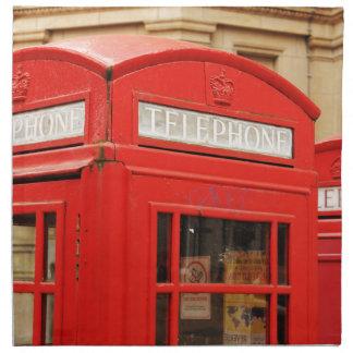 Telephone boot in London UK Napkin