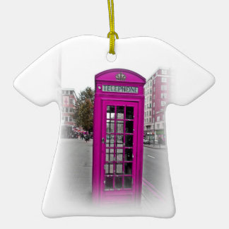 Telephone booth christmas ornaments