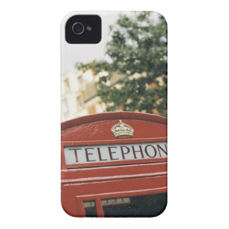 Telephone booth in London England Case-Mate iPhone 4 Cases