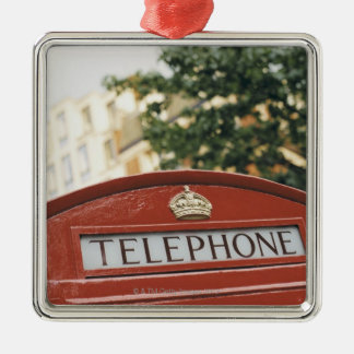 Telephone booth in London England Christmas Ornament
