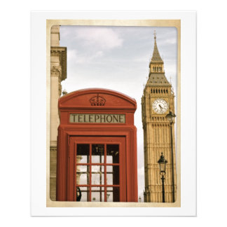 Telephone Box and Tower of Big Ben Custom Flyer