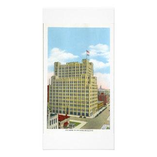 Telephone Building, Denver, Colorado Personalised Photo Card
