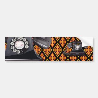 Telephone Car Bumper Sticker