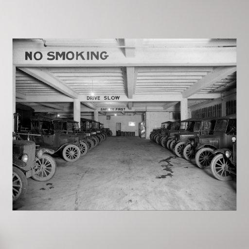 Telephone Company Trucks: 1925 Poster