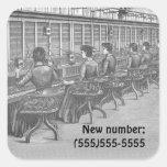 Telephone Exchange New Number Sticker
