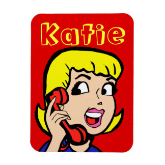 Telephone Girl Comic Strip Flexi Magnet