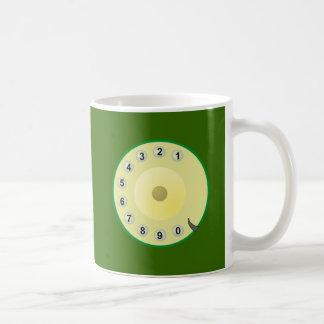 Telephone of telephones dial dial plate basic white mug