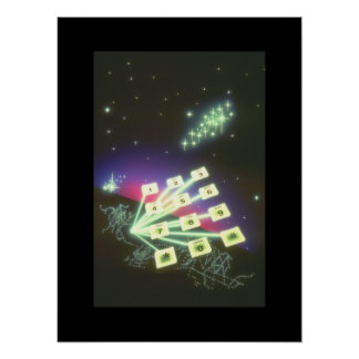 Telephone Pad over City._Space Scenes Poster