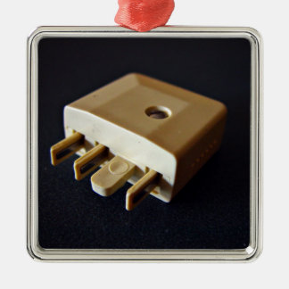 Telephone plug to standard RJ-11 adaptor Christmas Ornament