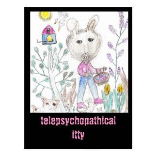 Telepsychopathical itty postcard
