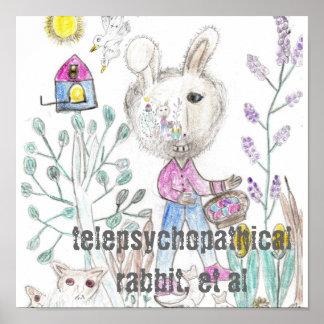 Telepsychopathical Rabbit Poster