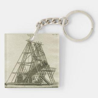 Telescope Antique SCIENCE EQUIPMENT 18TH CENTURY Key Ring