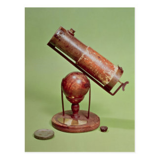 Telescope belonging to Sir Isaac Newton  1671 Postcard