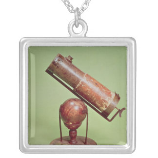 Telescope belonging to Sir Isaac Newton  1671 Silver Plated Necklace