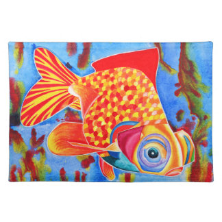 Telescope Eye Goldfish decorative placemat