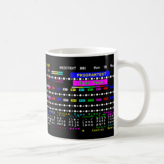 Teletext Test Page Basic White Mug
