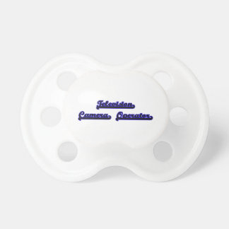 Television Camera Operator Classic Job Design Baby Pacifiers