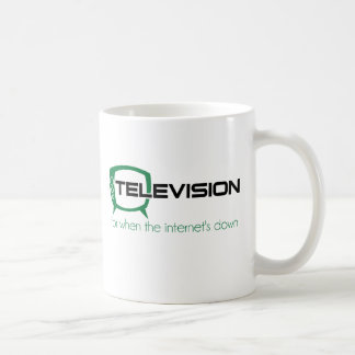 Television for when the internet is down mugs