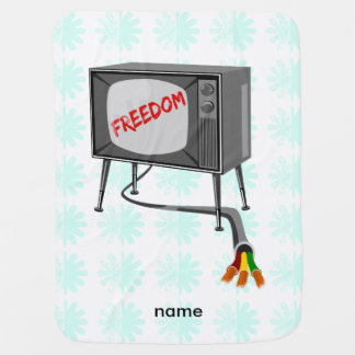 Television Freedom Baby Blanket