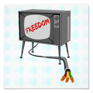 Television Freedom Turn Off Your Device Photo Print