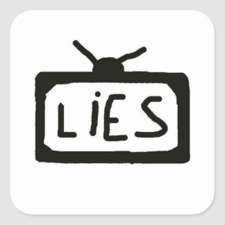 Television lies - sticker