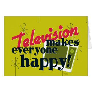 Television Makes Everyone Happy! Card
