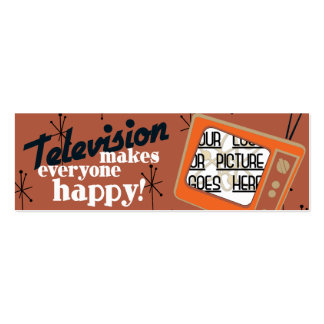 Television Makes Everyone Happy! Copper Brown Business Cards