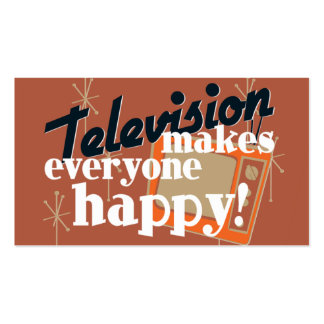 Television Makes Everyone Happy Copper Brown Business Card