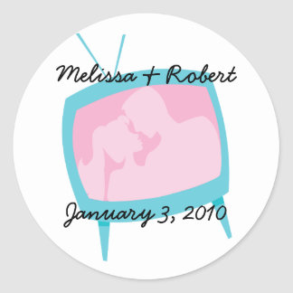 Television Moments Round Sticker