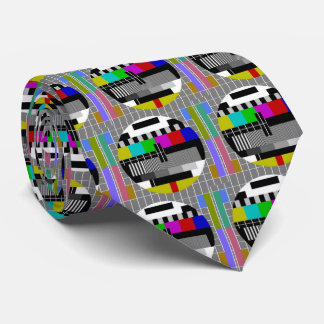 Television Test Card Closedown Pattern Tie