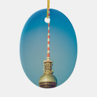 Television tower Berlin Ceramic Oval Decoration