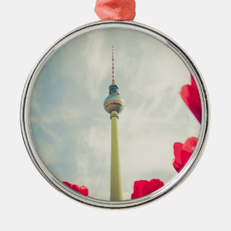 Television tower Berlin Silver-Colored Round Decoration
