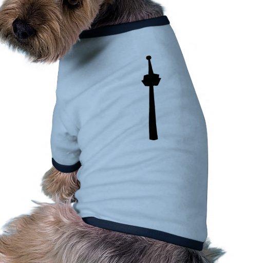 Television tower dog tshirt