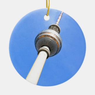 Television Tower (Fernsehturm) in Berlin, Germany Round Ceramic Decoration