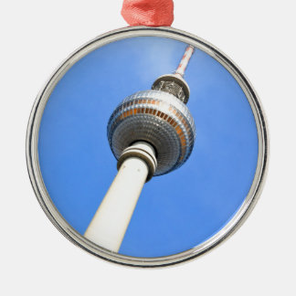 Television Tower (Fernsehturm) in Berlin, Germany Silver-Colored Round Decoration