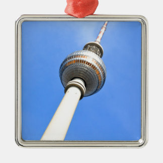Television Tower (Fernsehturm) in Berlin, Germany Silver-Colored Square Decoration
