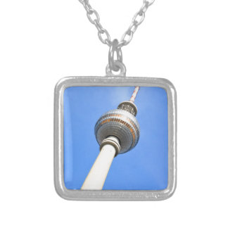 Television Tower (Fernsehturm) in Berlin, Germany Silver Plated Necklace