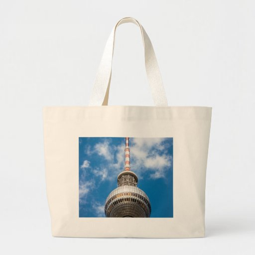 Television tower in Berlin (Germany) Canvas Bags