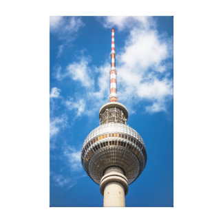 Television tower in Berlin (Germany) Canvas Prints