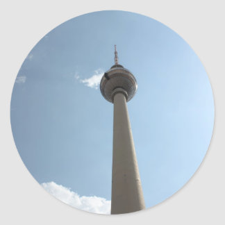 Television Tower in Berlin, Germany Classic Round Sticker