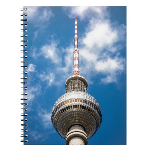 Television tower in Berlin (Germany) Notebook