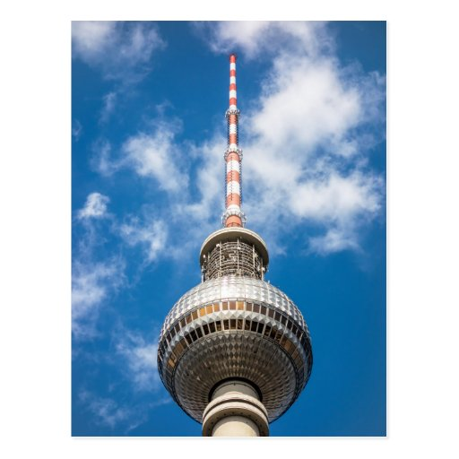 Television tower in Berlin (Germany) Postcard