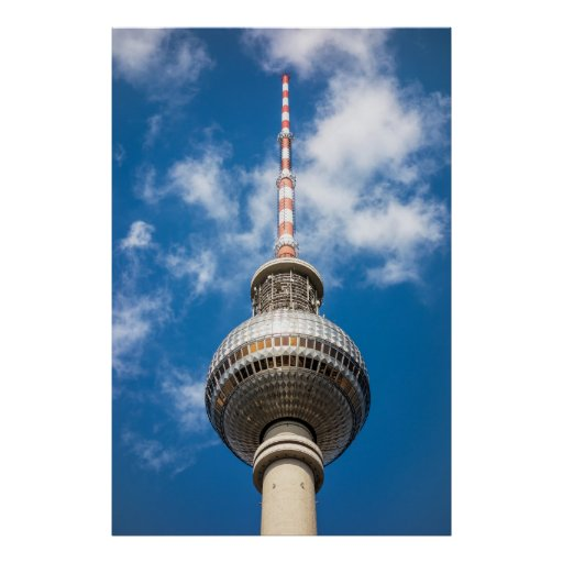 Television tower in Berlin (Germany) Posters