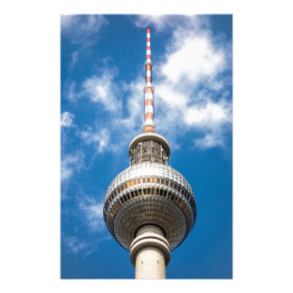 Television tower in Berlin (Germany) Customized Stationery